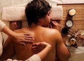 Man on relaxation massage — Stock Photo