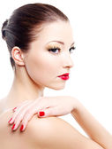 Portrait of glamour woman — Stock Photo