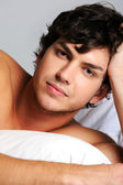 Male face with a calm emotions — Stock Photo