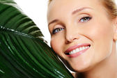 Beauty wellbeing smiling wonan face — Stock Photo