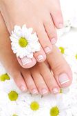 Female feet with beautiful toenails — Stock Photo