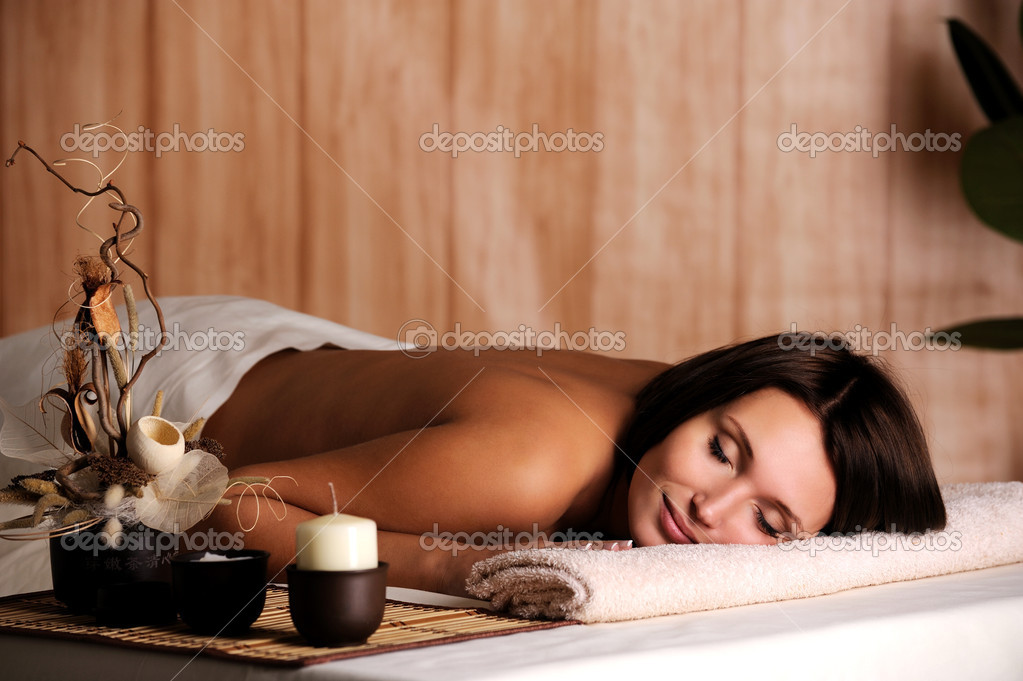 Young beautiful woman get relax in the spa salon  Stock Photo #1546435