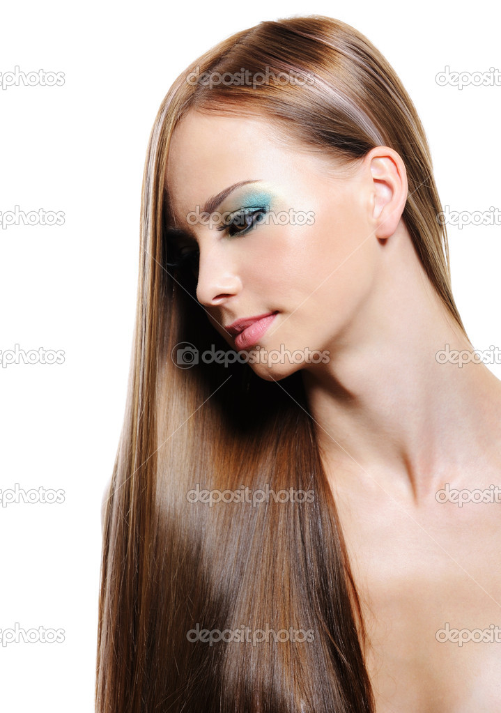 Portrait of beauty long hair of young blonde woman — Stock Photo #1550328