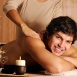 Male getting relaxation massage — Stock Photo