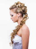 Stylish wedding hairstyle — Stock Photo