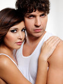 Portrait of a two sensuality lovers — Stock Photo