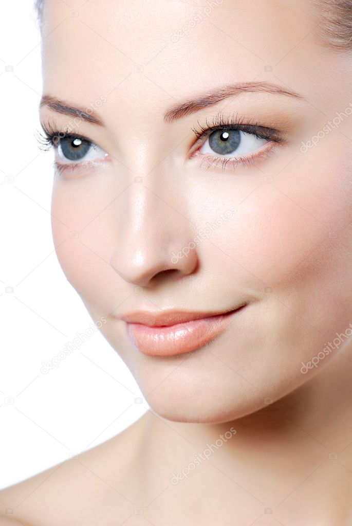 Attractive woman face with health skin  Stock Photo #2551305