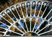 White ironwork — Stock Photo