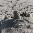 Small sandcastle — Stock Photo