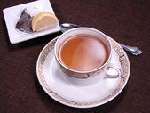 Tea in antique china — Stock Photo