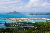 View on island from high point — Stock Photo