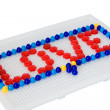 Mosaic and Love_1 — Stock Photo