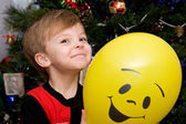 Boy and Balloon — Stock Photo