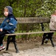 Offended on a bench — Stock Photo