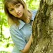 Girl and tree — Stock Photo #1423283