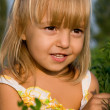 Stock Photo: Portrait of the little girl
