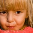 Little girl with watermelon — Stock Photo #1423521