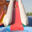 Girl on water slide — Stock Photo #1425292