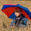 Stock Photo: Little boy with umbrella