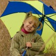 Little girl with umbrella — Stock Photo #1425965