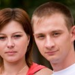 Portrait of couple — Stock Photo