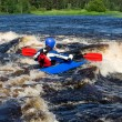 Stock Photo: Kayak on river