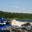 Kayak on river — Stock Photo #1427306