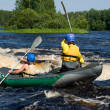 Kayak on river - Stock Photo