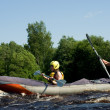 Kayak on river — Stock Photo #1427833