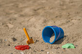 Blue sand pail — Stock Photo