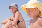 Ragazza sulla spiaggia — Foto Stock