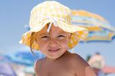 Girl on beach — Stock Photo