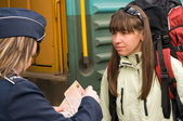 Embarkation to a train — Stock Photo