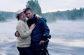 专业摄影师和妇女 — 图库照片