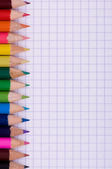 Multicolor pencils on paper — Foto de Stock