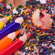 Multicolor pencils and shavings — Stockfoto