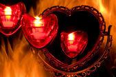 Heart on fire — Stock Photo