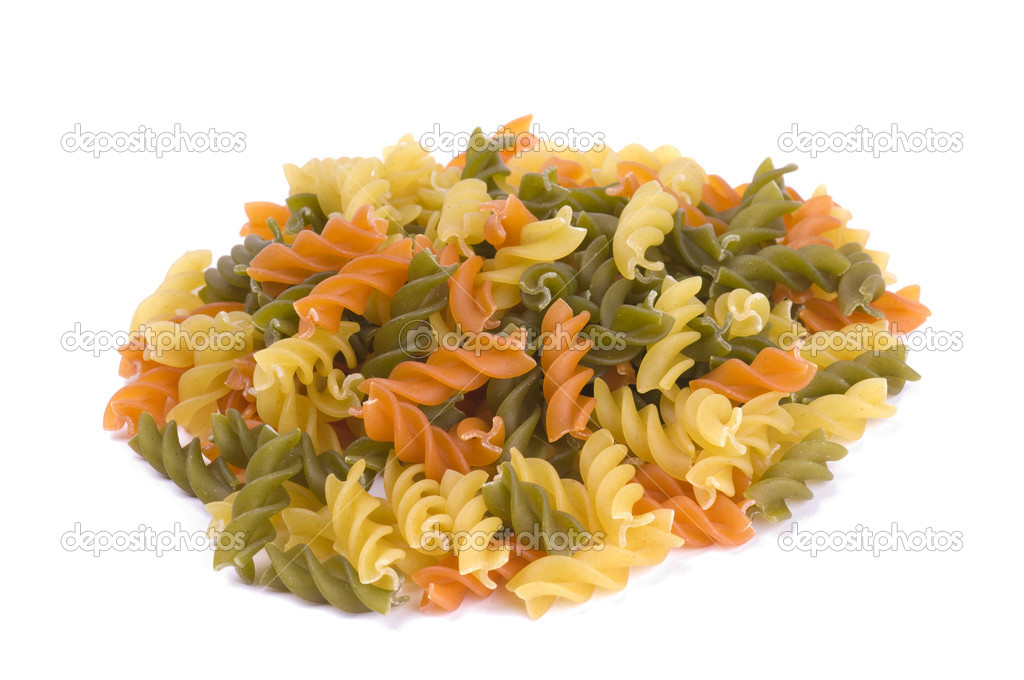 Different italian pasta over white. Italian food background.  Stock Photo #2253970