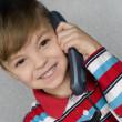 Boy with telephone — Stock Photo