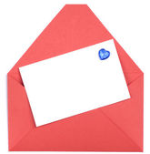 Envelope and white blank — Stock Photo