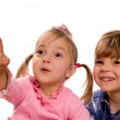 Funny little boy and girl — Stock Photo