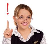 žena v brýlích — Stock fotografie