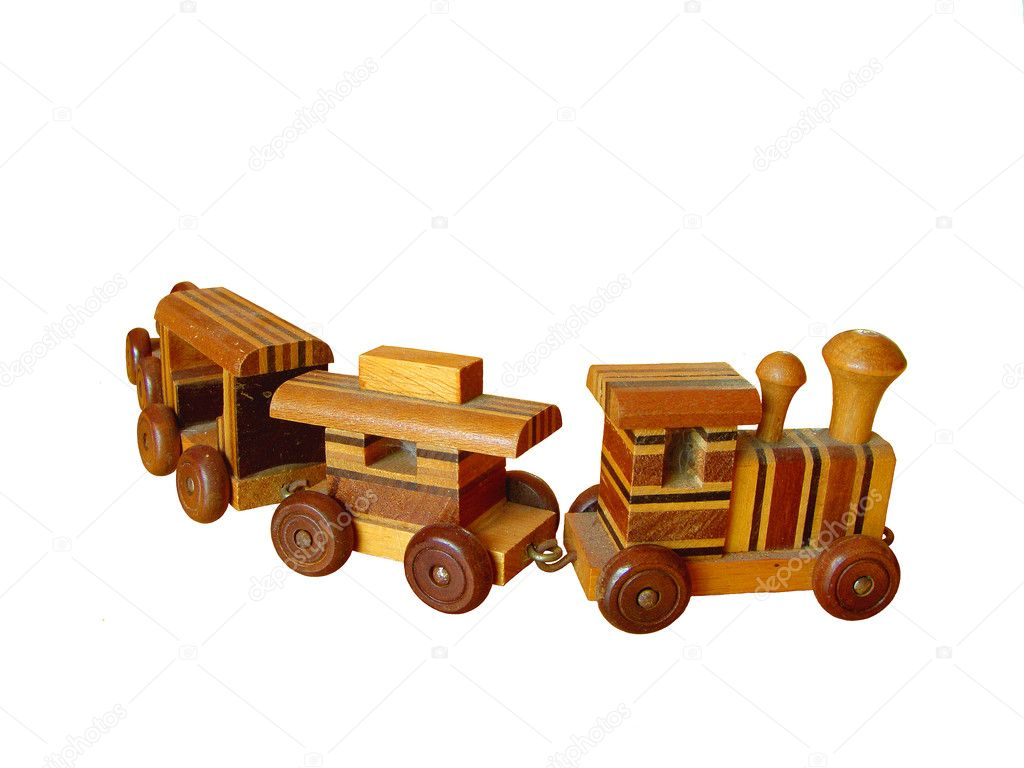 Old Wooden Toy Train — Stock Photo © tehcheesiong #1423787