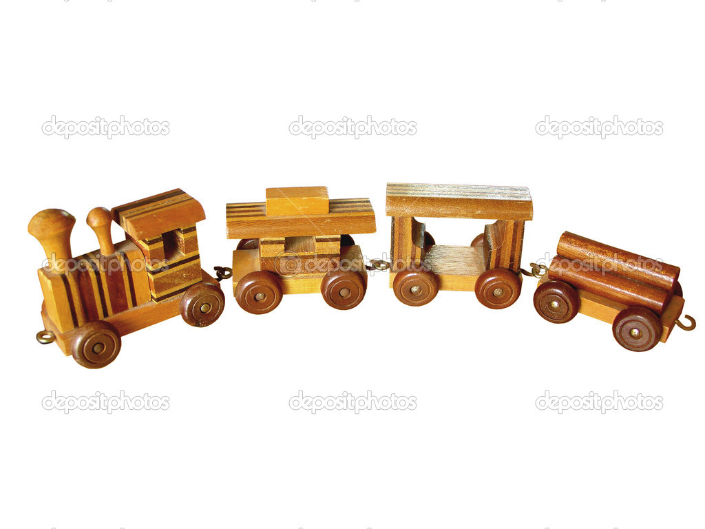 Old Wooden Toy Train — Stock Photo © tehcheesiong #1423808