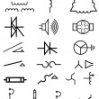 Stock Vector: Electrical power symbols