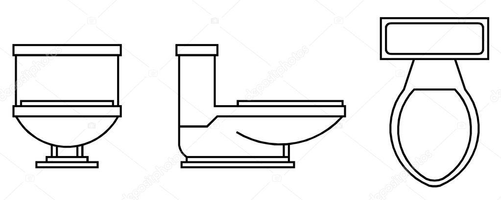 Toilet bowl — Stock Vector © tehcheesiong #1449933
