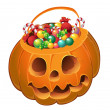 Royalty-Free Stock Vector Image: Pumpkin with a candy