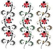 Set of batch delicate ornament Flower — Stock Vector