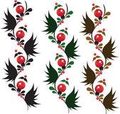 Delicate ornament berrys 1 — Stock Vector