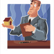 Stock Vector: Businessman